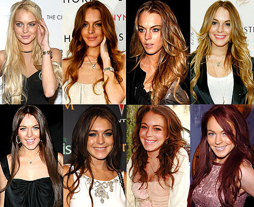 Which Hair Colour Looks Best On Lindsay Lohan?
