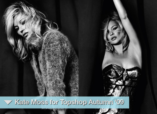 Photos of Kate Moss for Topshop Autumn 2009 Look Book