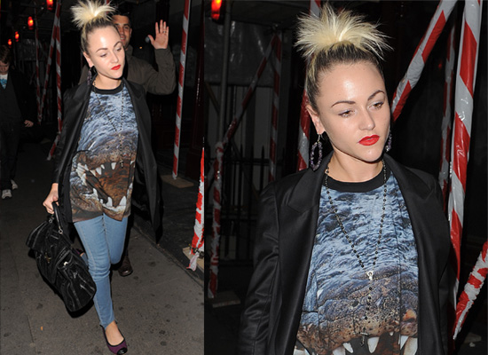 Photos of Jaime Winstone Wearing Christopher Kane for Topshop