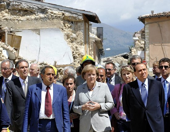 Front Page: World Leaders Arrive in Italy For G8 Summit