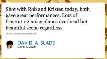 Eclipse Director, David Slade, Reports on Rob & Kristen Scene !