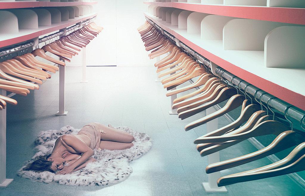 Linda Evangelista Poses for Artist Maurizio Cattelan in W Magazine