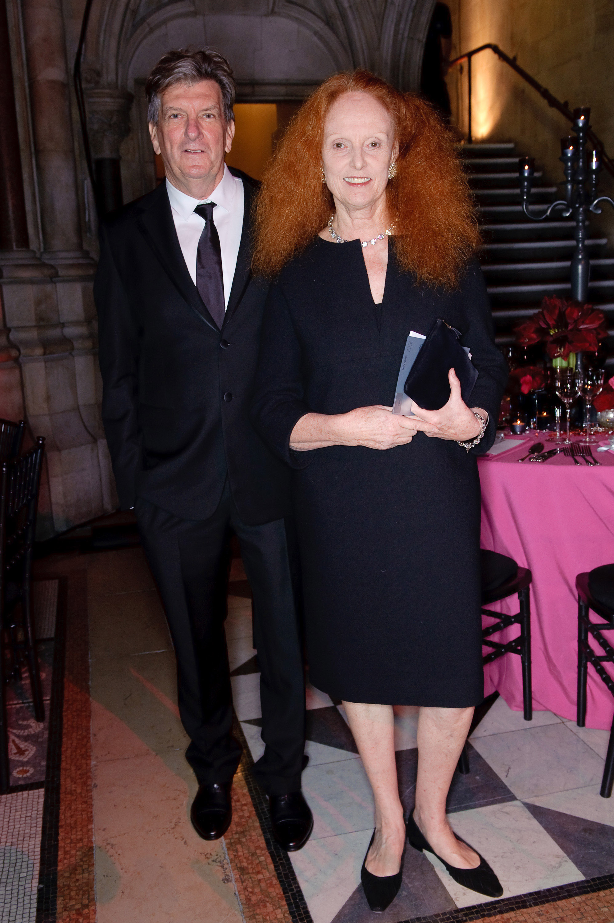 Grace Coddington met vriend Didier Malige