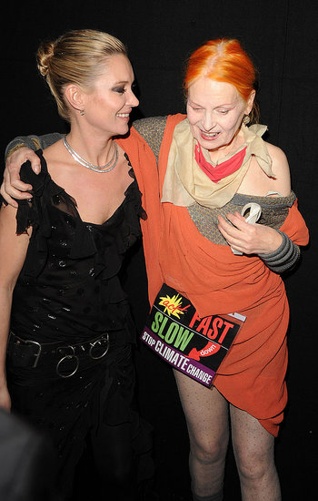 Kate Moss and Vivienne Westwood