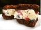 Vanilla Berry Brownie Ice Cream Sandwiches