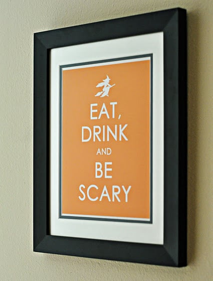 Keep Calm and Carry On, Halloween Style!