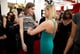 Reese Witherspoon ogled Allison Williams's dress on her way into the show.