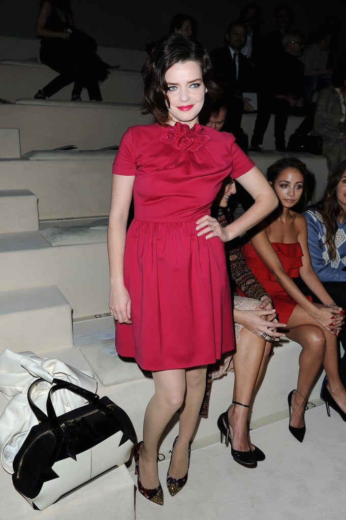 Roxane Mesquida struck a pose at Valentino.