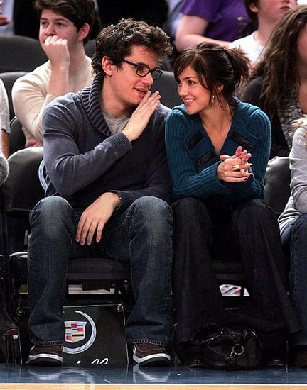 John Mayer and Minka Kelly at a New York Knicks Game in Madison Square Garden