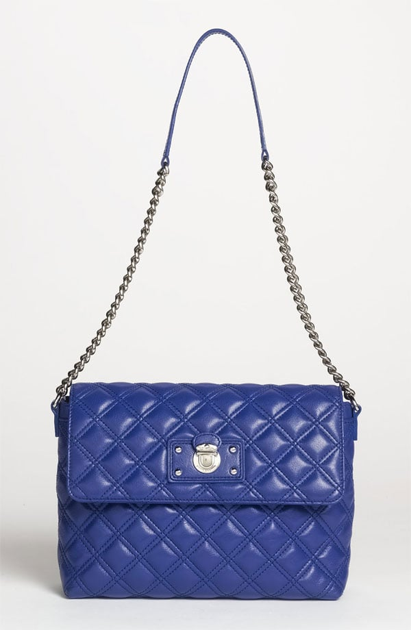 Quilted styles are an easy accessory add to make an outfit look a little more sophisticated. The royal blue of this Marc Jacobs chain-strap find ($675) is a sure way to mark it as your own, rather than something inherited from a great aunt.