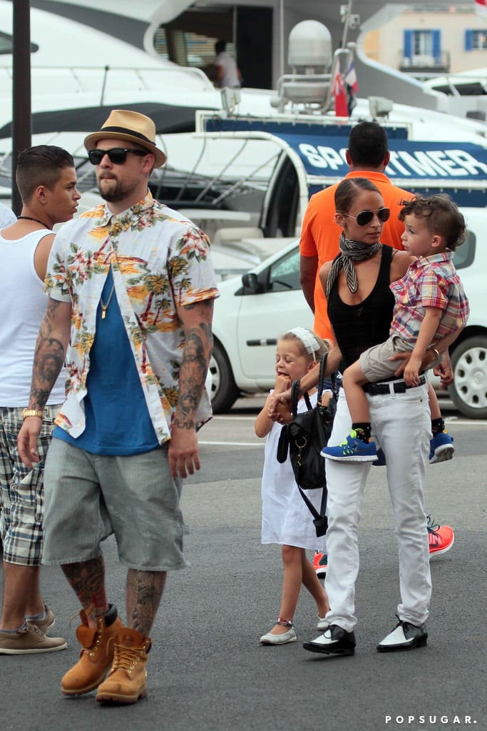 In July, Nicole Richie and Joel Madden took their family on a trip to St.-Tropez.