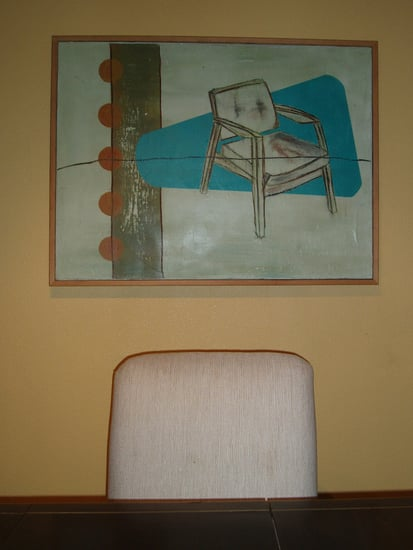 Dressing My Walls:  Chair Painting in the Dining Room