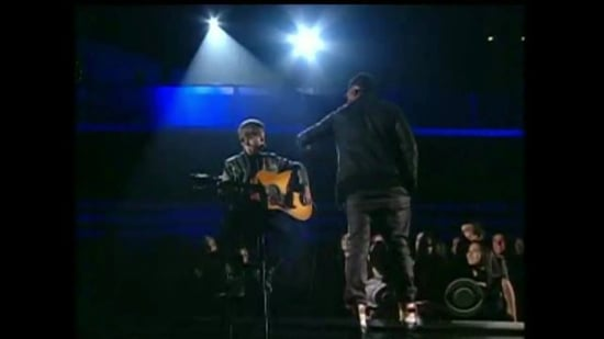 Justin Bieber Performs With Usher at the 2011 Grammys