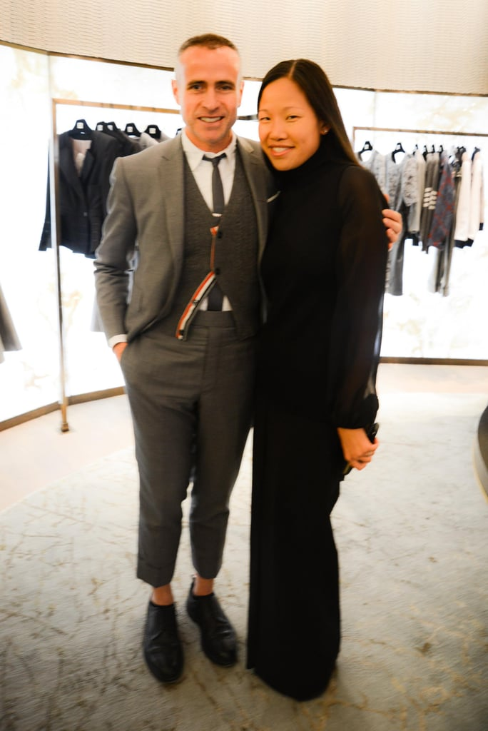 Thom Browne joined Sarah Tam at Saks to present his Spring 2014 collection.