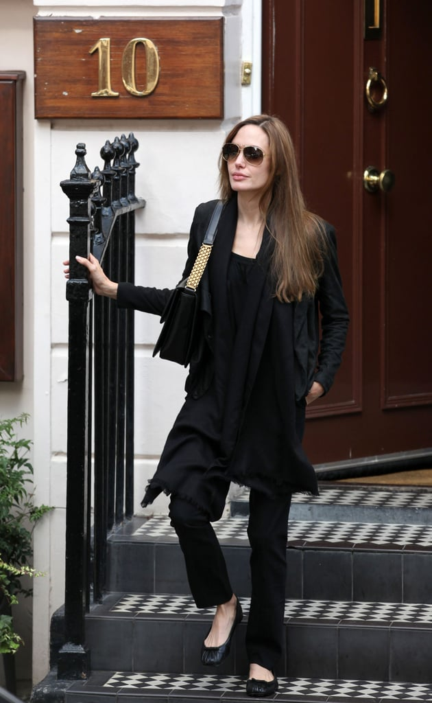 Angelina Jolie Dines Solo While Brad Pitt Chats Jennifer Aniston on the Today Show