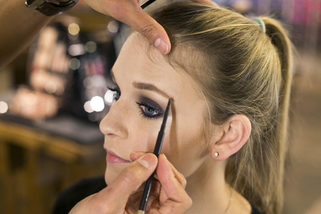 """""""You want to use a brow pencil to fill in the shape you already have,"""" Jennings explains. You're not creating a bold brow, but rather grooming it, so it complements the smoky eye rather than competing with it."""