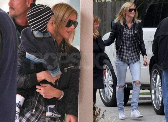 Photos of Elin Nordegren, Sam Woods, and Charlie Woods Together in Florida