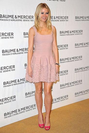 Gwyneth is pretty in pink in Switzerland.