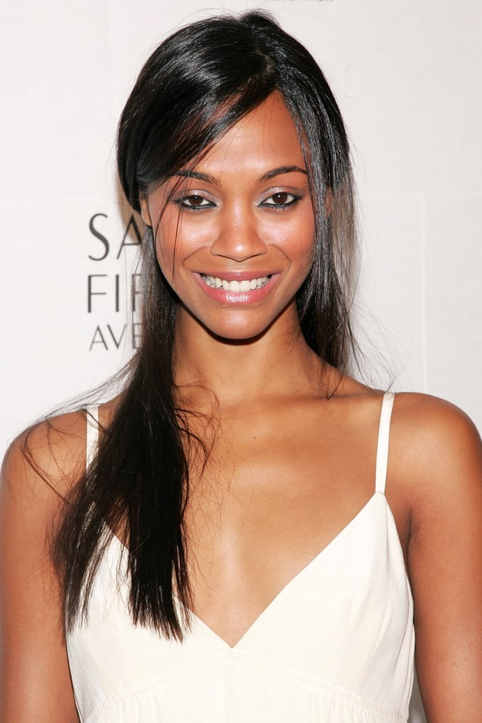 Zoe went for straightened locks at a Saks Fifth Avenue event in 2006. She paired her smooth look with thick liner on her lower lash line.