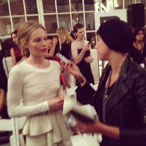 Rumi Neely spoke with Kate Bosworth backstage at NYFW. Source: Instagram user rumineely