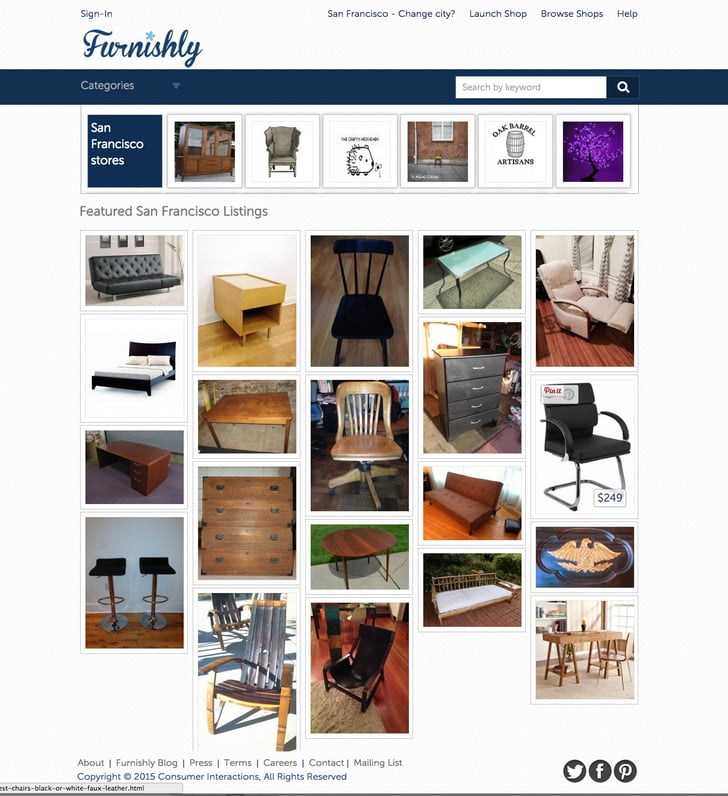 Furnishly 5 sites better than craigslist popsugar home for Website to sell furniture