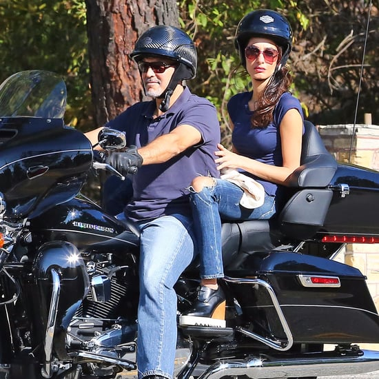 George and Amal Clooney on Motorcycle August 2016