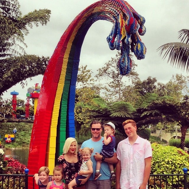Tori Spelling and Dean McDermott took their entire family to Legoland for the day. Source: Instagram user torispelling
