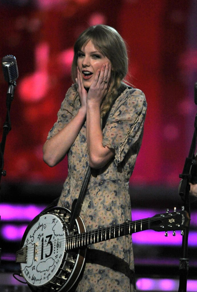 Taylor Swift was grateful to receive a standing ovation at the Grammys in February 2012.