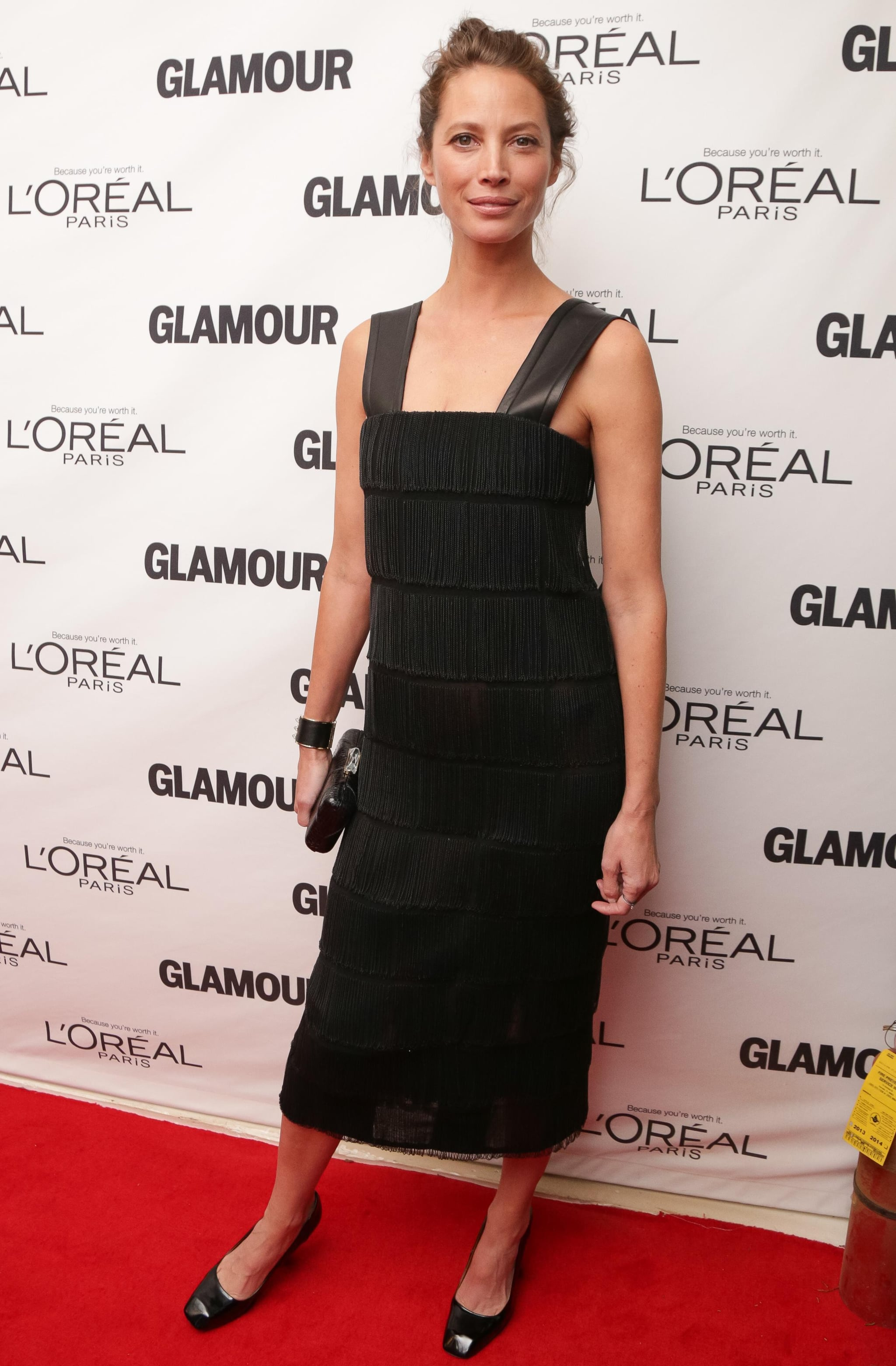 Christy Turlington Burns in Calvin Klein Collection at  the Glamour Women of the Year Awards.