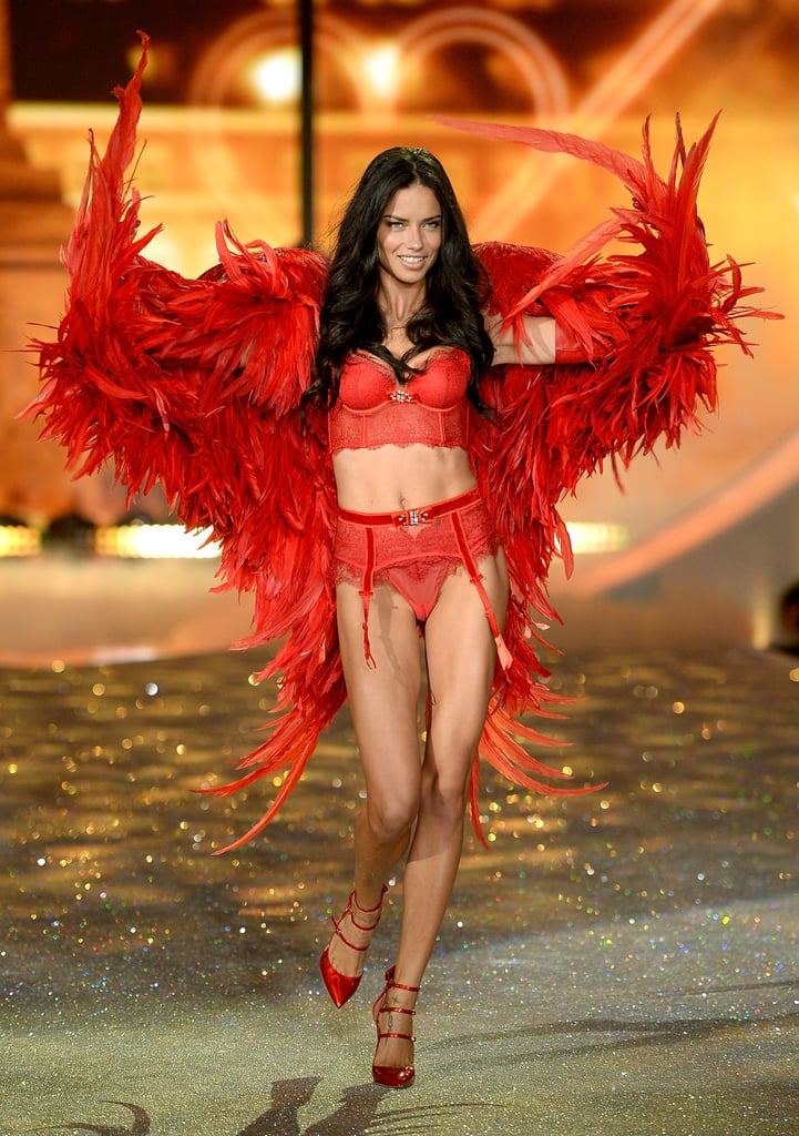 Adriana Lima was a red-hot seductress during the 2013 show.