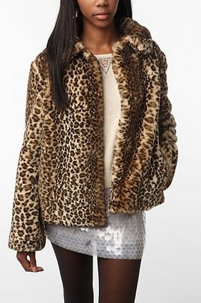 A statement coat to rival the dress lurking underneath.  Generation X Faux Fur Coat ($99)