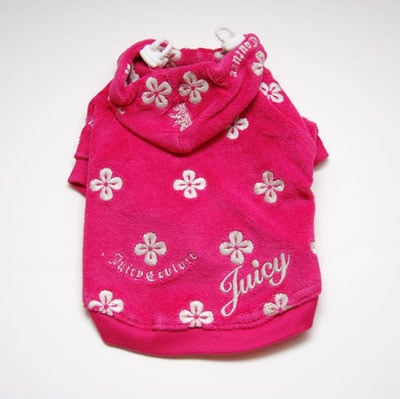 Juicy Couture Daisy Velour Dog Hoodie (Vivid) ($45)