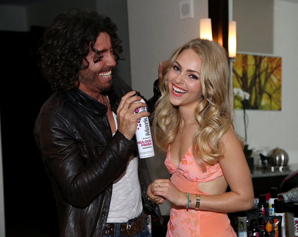 POPSUGAR: Mark, what did you use on AnnaSophia's hair tonight? Mark Hill: She has fine hair, but lots of it. I used Viva La Volume ($11) to give her big hair that looks light and airy. PS: AnnaSophia, how do you typically style your hair and what do you use? AnnaSophia Robb: Well, usually I don't do anything to my hair, that's why it's so healthy. Mark's MiracOILicious is a great product just for keeping the hair healthy. The conditioner ($10) is really awesome, and then the texturizing polish ($12) when it is styled, just to give it that extra grit.