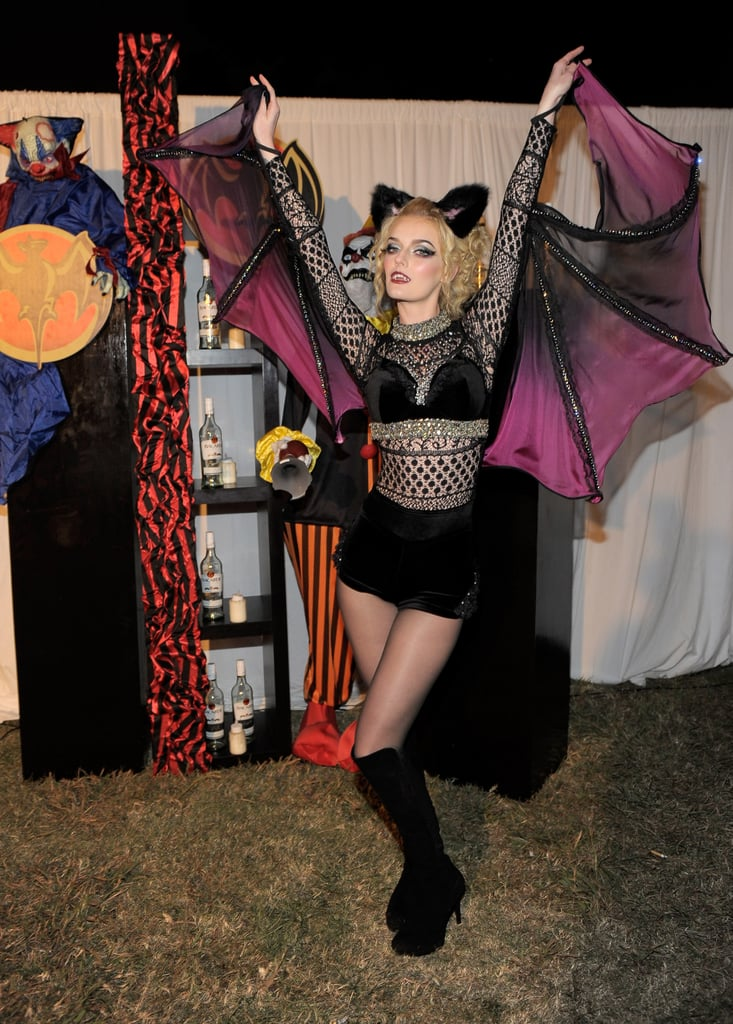 Lydia Hearst showed off her wingspan in a moody bat costume in 2011.