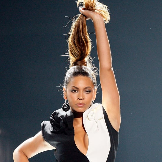 While performing at the 2008 American Music Awards, Beyoncé  decided her ponytail needed a little more lift.