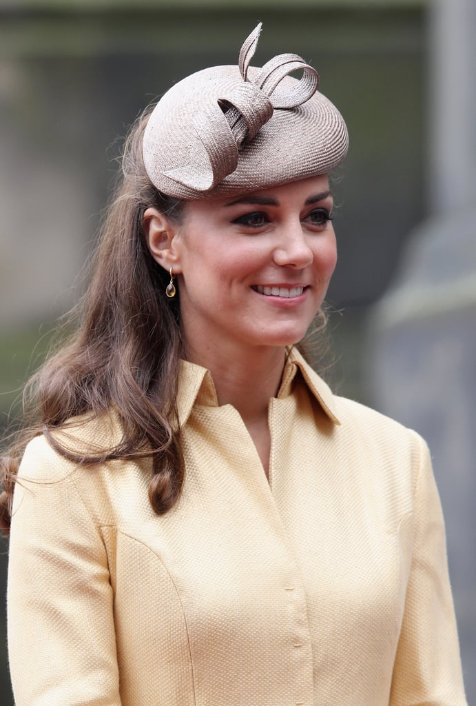 Kate Middleton wore a yellow Emilia Wickstead dress at the Thistle Ceremony in Edinburgh.