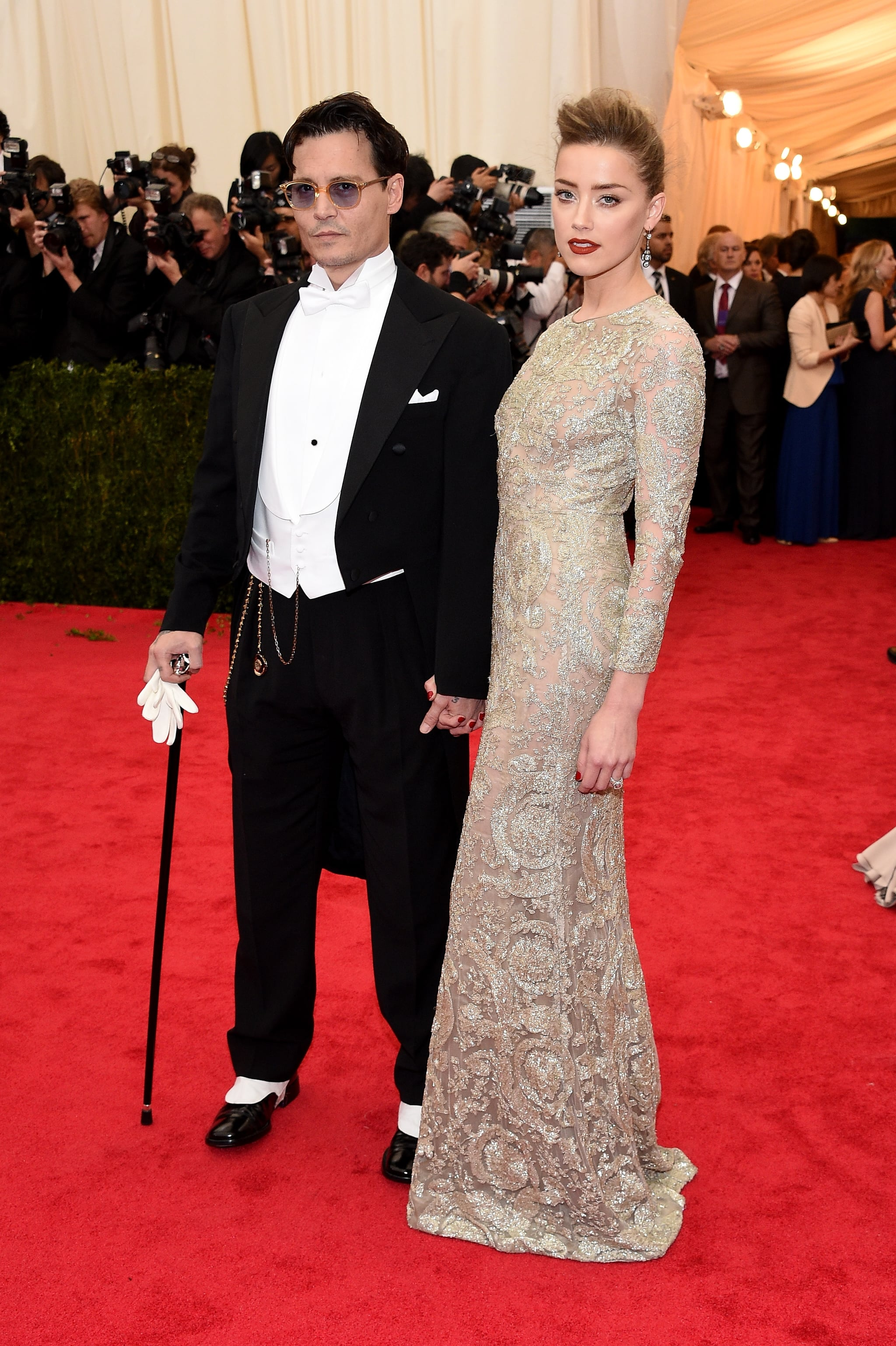 Johnny and Amber Make a Surprise Met Gala Stop