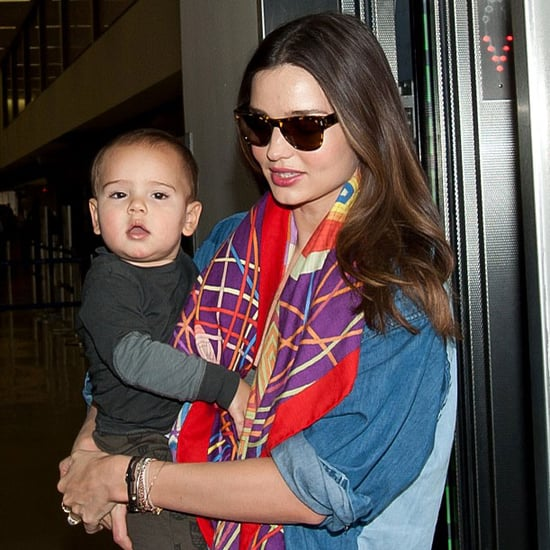 Miranda Kerr and Flynn Bloom at LAX Pictures