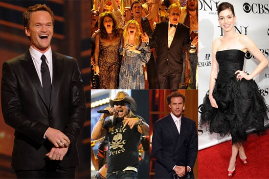 Photos of Neil Patrick Harris, Anne Hathaway, Elton John, Will Ferrell, Bret Michaels at 2009 Tony Awards in NYC