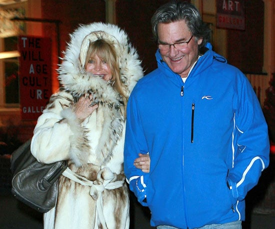 Slide Picture of Goldie Hawn, Kurt Russell in Aspen