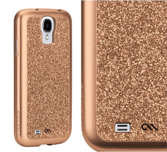 Add a sparkling bit of glamour to the shiny new S4 with the Case-Mate Glam Rose Gold Case ($50), which has a glitter inlay so it's smooth to the touch.