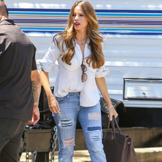 Sofia Vergara Wearing Jeans August 2016