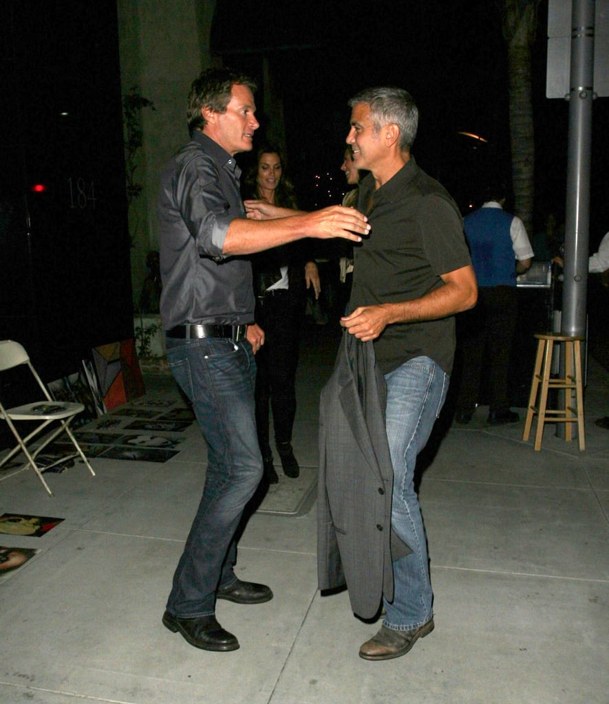 George Clooney and Stacy Keibler doubled dated with Cindy Crawford and Rande Gerber.