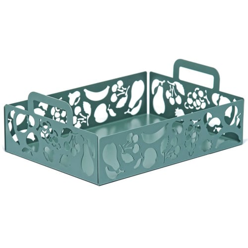 The unique crate shape of this stainless steel fruit holder ($150) makes it stand out from the rest.