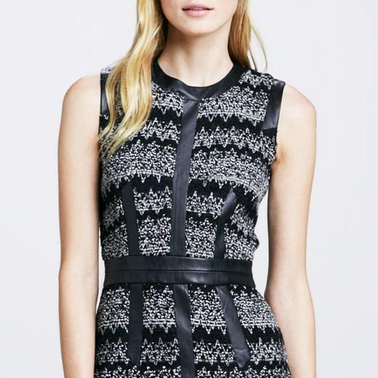 Leather-Trim Dresses | Shopping