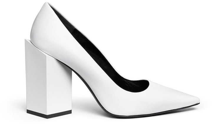 Pierre Hardy Twist Block Heel Leather Pumps