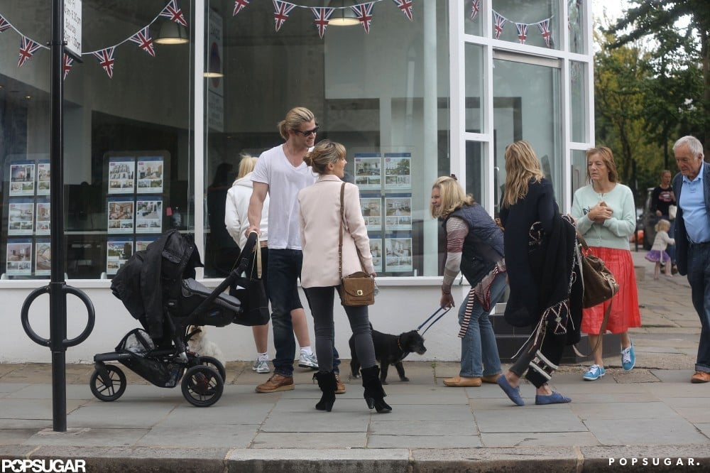 Sienna Miller and Chris Hemsworth bumped into each other in London.