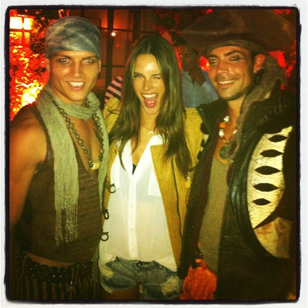 Alessandra Ambrosio posed with pirates. Source: Instagram user alecambrosio