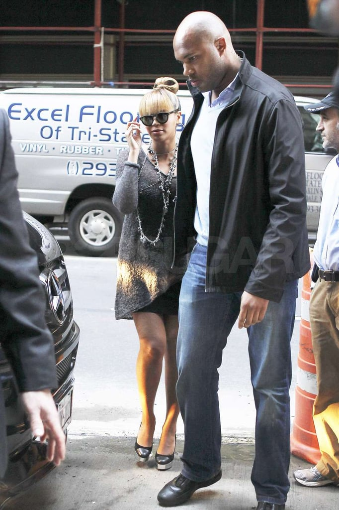 Beyoncé Knowles had some help navigating the city streets.