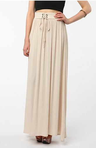 Anchor this MinkPink Angela Maxi Skirt ($115) with a leather jacket or, better yet, an oversize ivory cashmere pullover for the full Winter-white effect.
